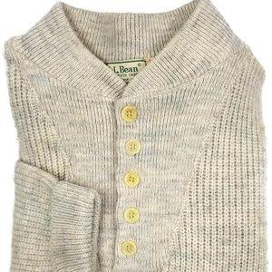 L L Bean High Trek Yarn Henley Sweater XL TALL XLT